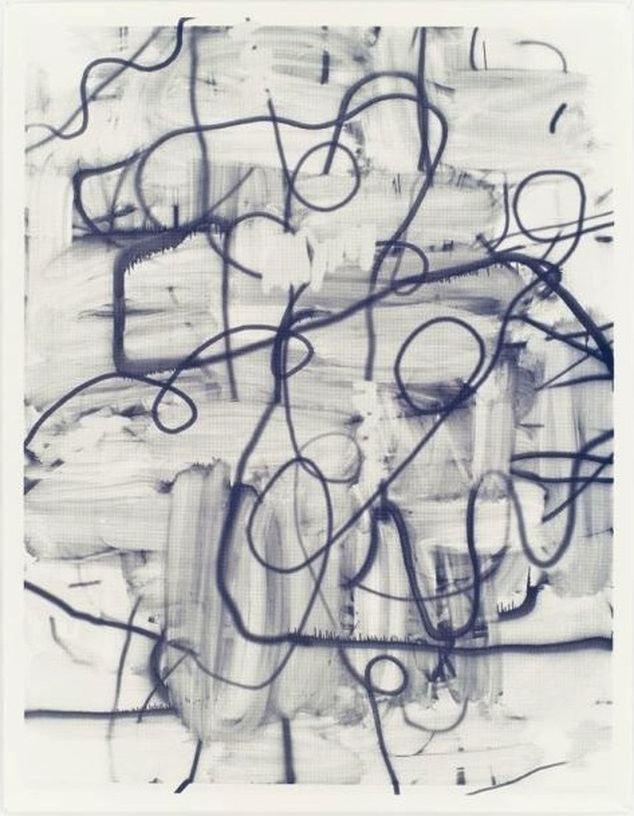 Untitled, 2007, Silkscreen ink on paper, 182,88 x 140,34 cm
