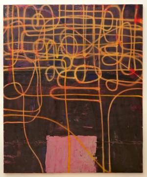 Untitled, 2011, Acrylic, fiberglass and resin on canvas,  238 x 198 cm