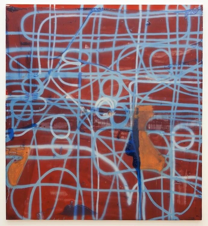 """Untitled"", 2011, Acrylic, fiberglass and resin on canvas  228 x 200 cm"