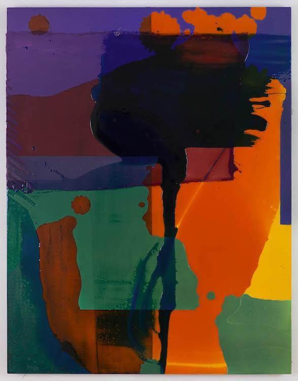 Shes Got Muscles, 2017, Panel, canvas, acrylic, pigmented urethane, fiberglass, epoxy resin, 140 x 108 x 3.8 cm