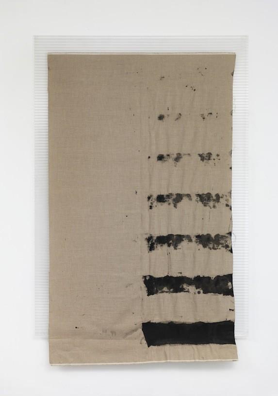 Untitled, 2012, Pigment on canvas, polycarbonate,  230 cm x 150 cm
