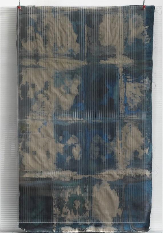 Untitled, 2010, Watercolour, pigment on canvas, polycarbonate, 210 x 150 cm