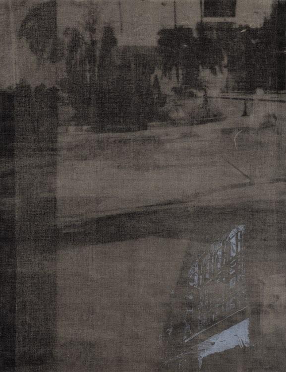 Bones I, 2017-19, Lithograph and screen print on linen, 71 x 54 cm