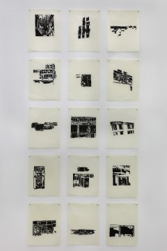 Works to be occupied, 2009, 15 Woodcuts, 21 x 30,5 cm each