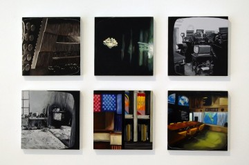 Cold War Episodes 1, 2009, oil and acrylic on panel, 6 parts, 21 x 21 cm each panel