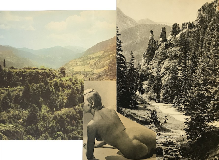 In between, 2011-21, Collage, archive material, 28 x 38 cm