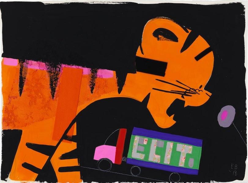 Untitled, 2018, Description: Gouache and graphite on paper, 35.56 x 45.09 cm