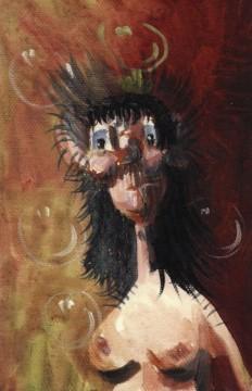 Nude Pod, 1998, oil and acrylic on canvas, 24 x 16,5 cm