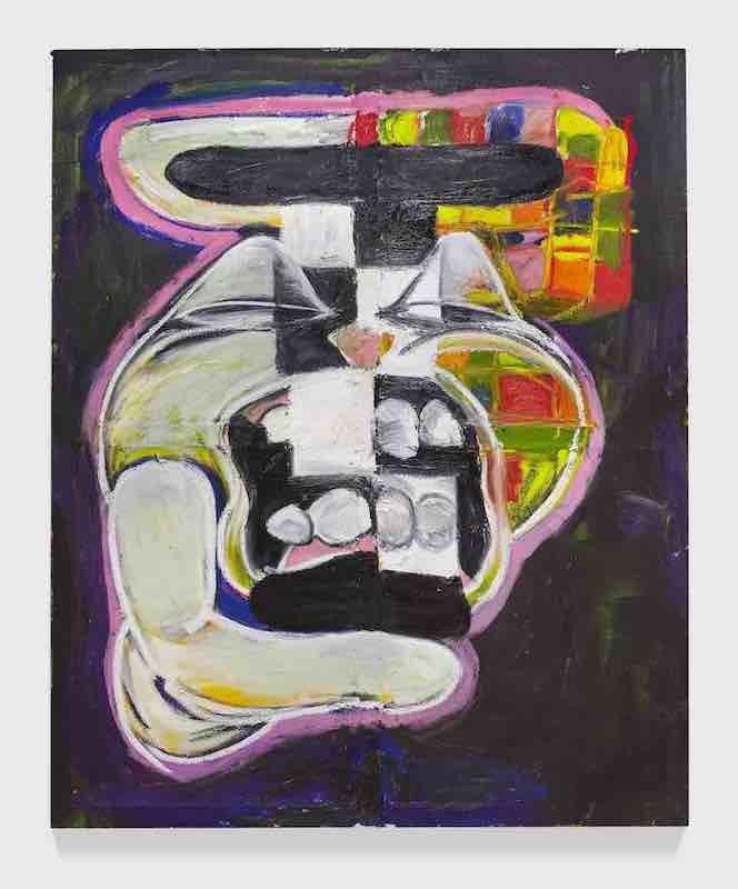 Complex Min, 2018, Acrylic and oil on canvas, 214.5 x 176.5 cm