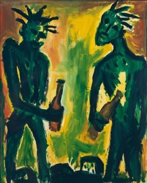 Berber, 1985, Acrylic on canvas, 160 x 130 cm