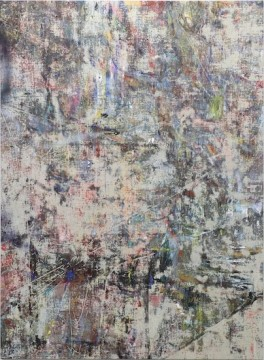 Untitled (Beisan), 2014, Acrylic, enamel, alcohol, and salt on oil primed linen, 195.6 x 144.8 cm, 77 x 57 in