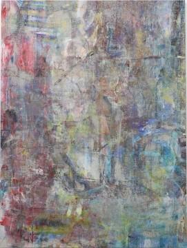 Untitled (Noakhali), 2015, Acrylic, enamel, alcohol, and salt on oil primed linen, 195.6 x 146.1 cm (77 x 57 1/2 in)