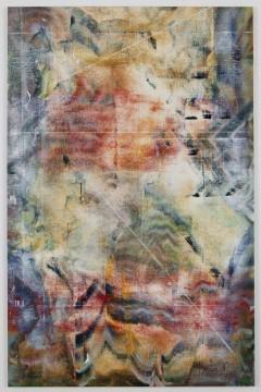 Untitled, 2013, acrylic, alcohol salt on primed linen, 157.48 x 101.6 cm