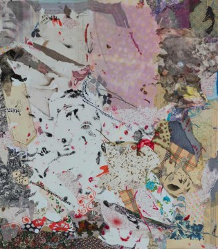 Lilac, 2009, mixed media on canvas, 160 x 140-cm