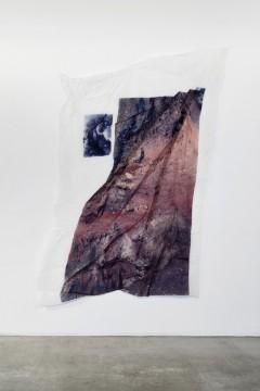 Mount P, 2019, Digital print on textile, textile hardener, 180 x 140 cm