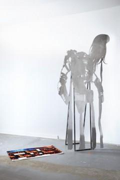 IDO, 2018, Aluminum, steel, digital print on textile, 220 x 180 x 50 cm