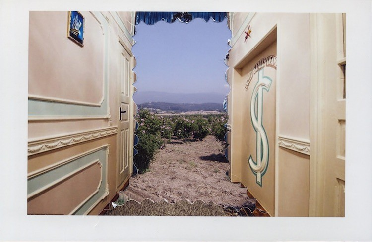 On The Road (Φirma Gypsy Globales), 2014, Collage, 32.5 x 27.5 cm