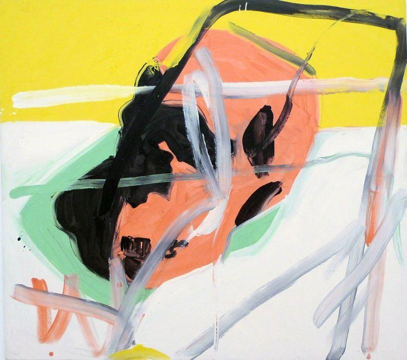 Mom Block Nr. 14, 1996, Acrylic on canvas, 160 x 140 cm