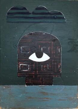 Verdonkeremanen, 2011-2019, Acrylic, filler and oil on wood, 55 x 40 cm