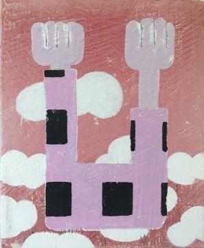 Dubbelop, 2012-2019, Acrylic, colour pencil and spray paint, 49 x 40 cm