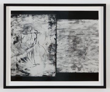 How to address you my, 2014, Solarized silver gelatin contact print from smoked glass negative, 40.6 x 50.2 cm (16 x 19 3/4 inches)