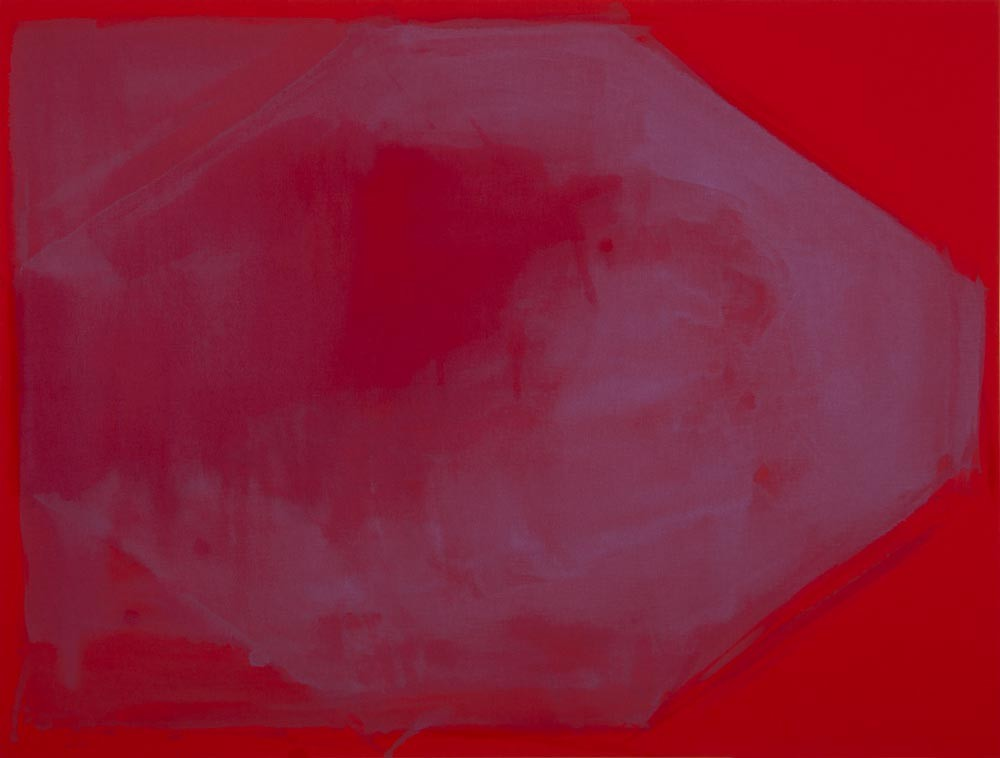 Tinged, 2015, Acrylic on cloth, mounted on aluminum, 76.2 x 101.6 cm (30 x 40 inches)