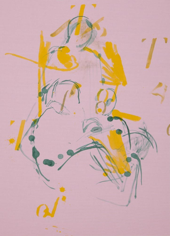 Nape, 2015, Acrylic on cloth, mounted on aluminum, 77.5 x 57.2 cm (30 1/2 x 22 1/2 inches)