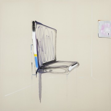 Design chair and expensive painting, 2015, Oil on canvas, 150 x 150 cm
