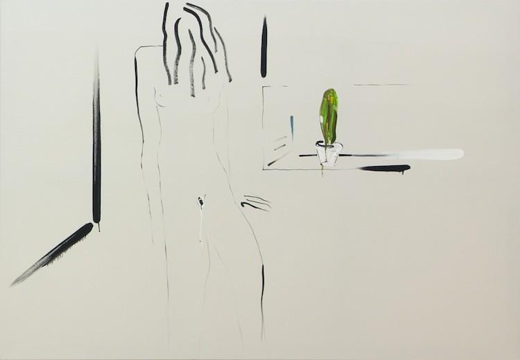Intimacy fear, 2015,  Oil on canvas, 142 x 207 cm