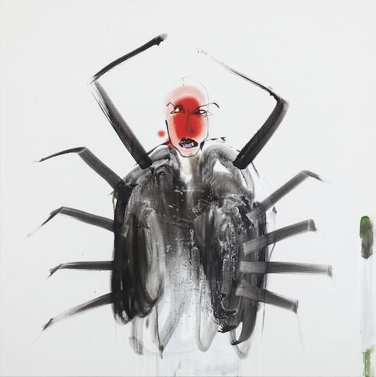 Uncomfortable suit, 2018, Oil on canvas, 150 x 150 cm
