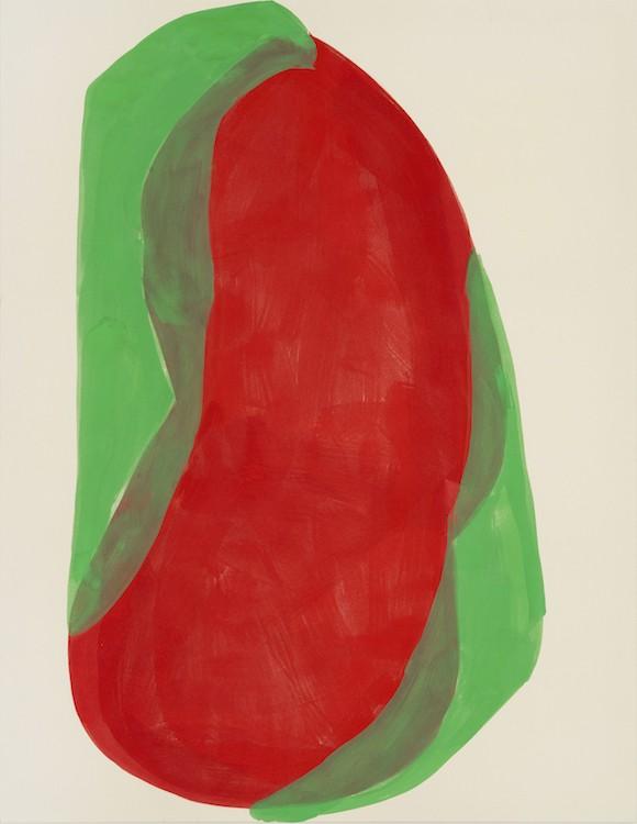 Agora, 2019, Pigment, glutin on canvas, 200 x 155 cm