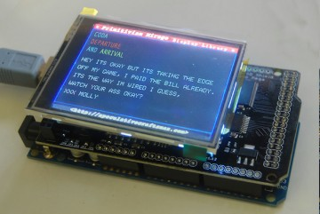 XXX MOLY, 2017, Shield Screen and microcontroller