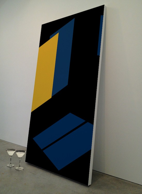 Midnight Blue, 2017, Acrylics on plywood, Heritage cocktail