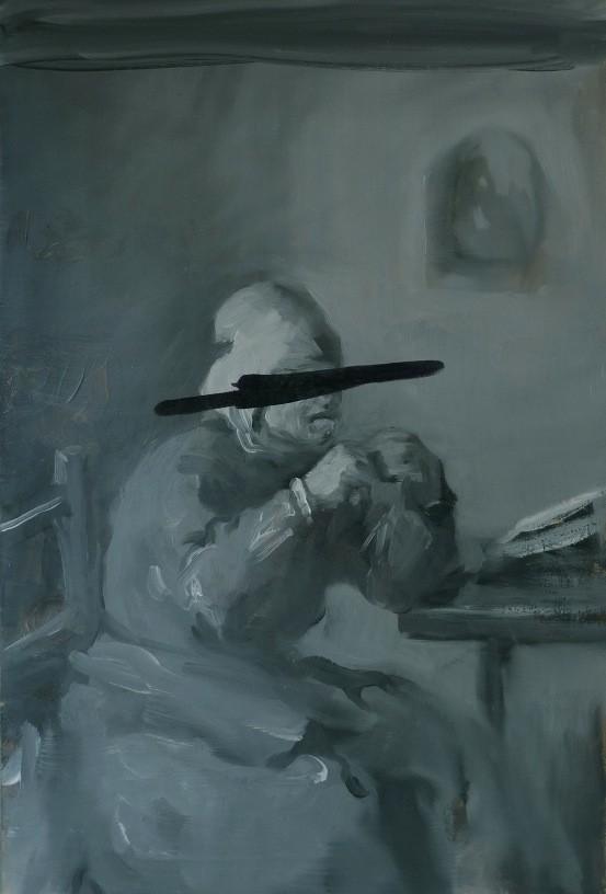 Feeler Thinker Burner No.3, 2011, oil on board, 32,3 x 21,9 cm