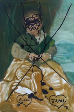 Elton Juan. 2011, oil on canvas, 76 x 50,5 cm