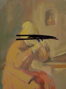 Feeler Thinker Burner No.2, 2011, oil on board, 29,2 x 21 cm