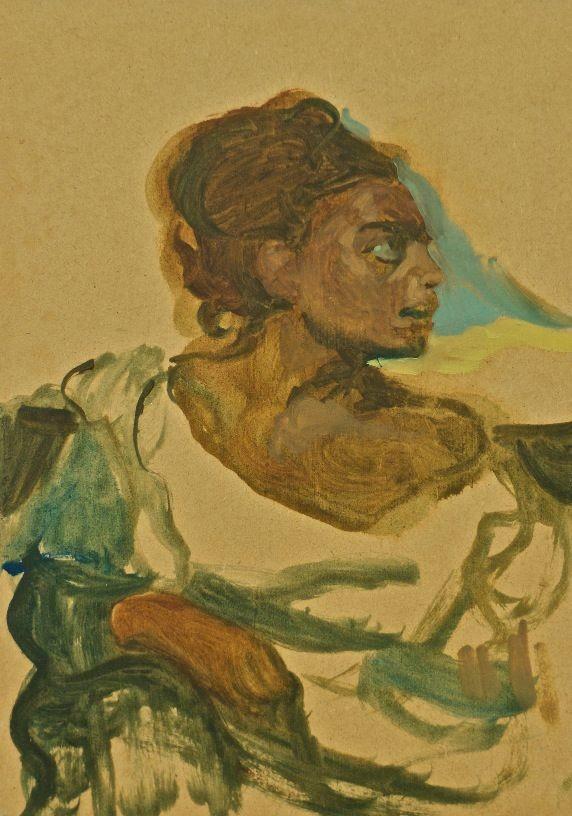 Dark Orphan, 2010, oil on board, 24 x 16,9 cm
