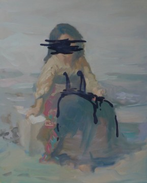 Unworkability starts at 6, 2011, oil on board, 50,5 x 40,7 cm