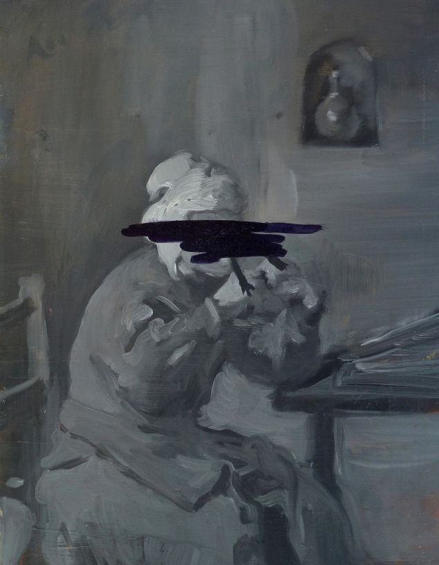 Feeler Thinker Burner No.1, 2011, oil on board, 31 x 24 cm