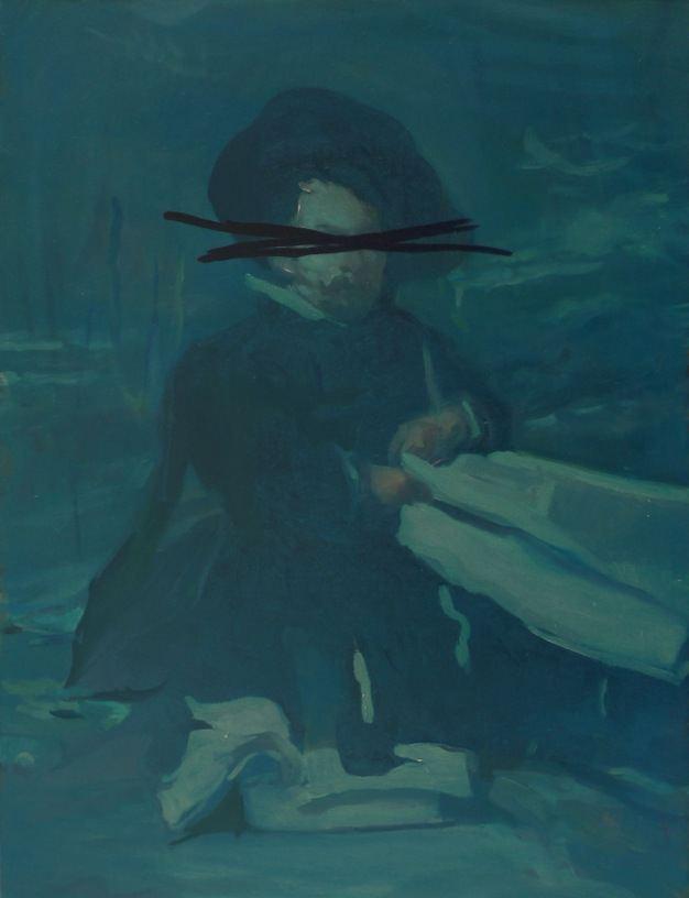 El Primo, 2011, oil on board, 60,5 x 46 cm