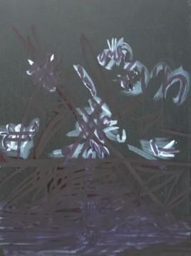 Flower Arrangement No. 3, 2013, oil and marker on board, 32,1 x 24,3 cm