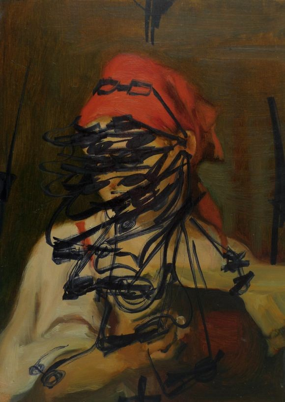Rearticulated Head, 2011, oil on board, 24,1 x 17,1 cm