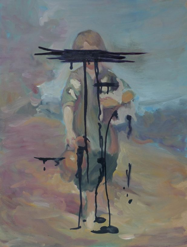 Unworkability starts at 5, 2011, oil on board, 60,5 x 46 cm
