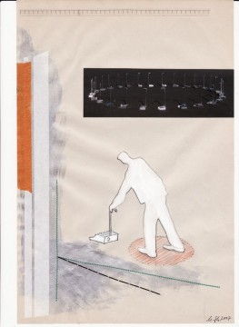 Walking the circle, 2007, collage on paper, 29 x 19 cm