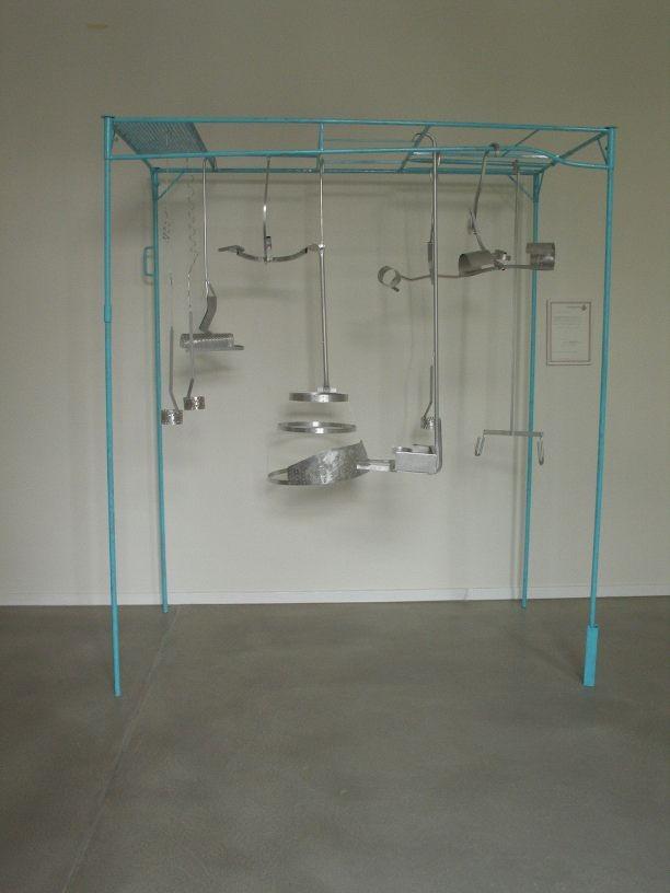 Garderobe, 2006, made of aluminum, 210 x 170 x 130 cm