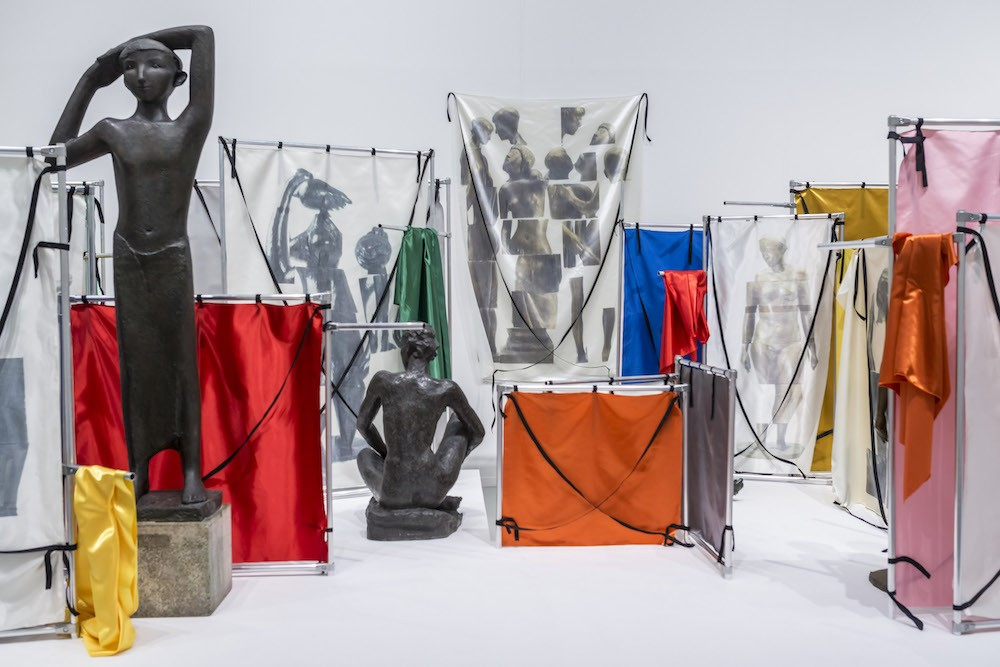 """""""Nacktes Erbe: Wir Brauchen Euch Alle"""" in the group show PRODUKTION. made in germany drei 2017, Installation view at Sprengel Museum, Hannover"""