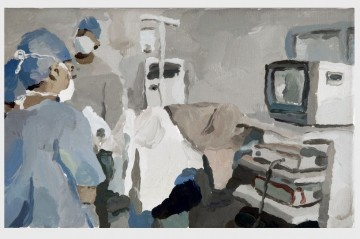 Operation, 2008, oil on canvas, 25 x 40 cm