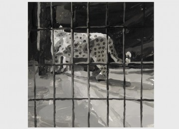 Zoo, 2009, acrylic on aluminium, 40 x 40 cm