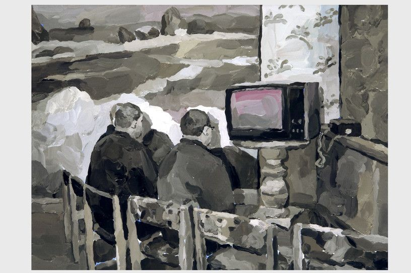 Hypnosis, 2008, oil on canvas, 60,5 x 80,5 cm