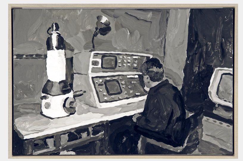 Dr Frankenstein New Dream, 2008, oil on canvas, 32 x 58 cm
